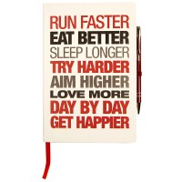 Motivational Notebook - Hardback A5 White/Red