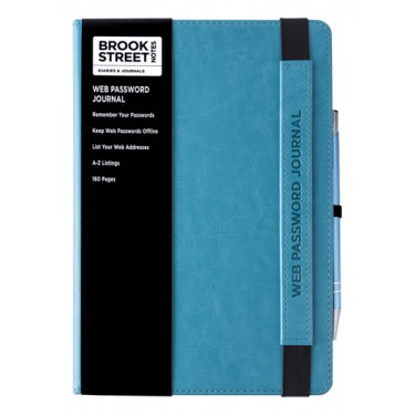 NEW RANGE! Web Password and Internet Address Notebook A5
