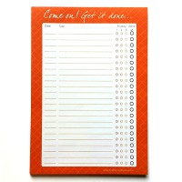 To Do List Notepad A4 - Come on! Get it done...