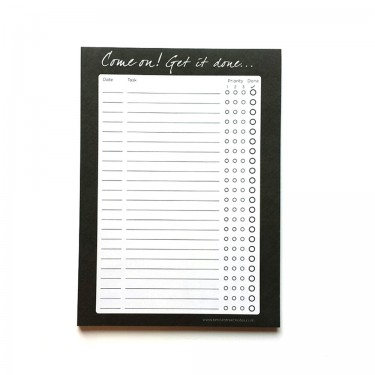 To Do List Notepad A5 - Come on! Get it done...