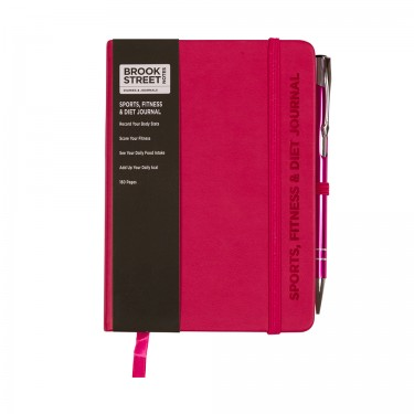 Sports Fitness & Diet Notebook A6