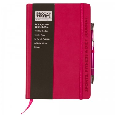 Sports Fitness & Diet Notebook A5