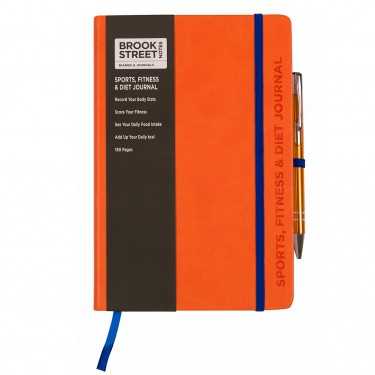 Sports Fitness & Diet Notebook A5