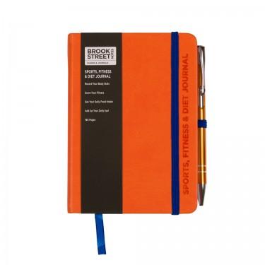'A' Grade Sports Fitness & Diet Notebook A6