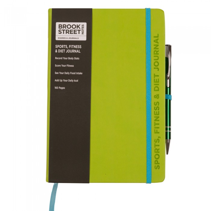 sports fitness diet notebook a5