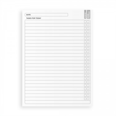 Business To Do List Notebook A5 - Black