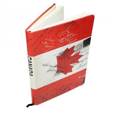 Canada Flag Notebook A5
