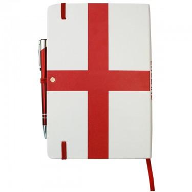 England Flag Notebook A5
