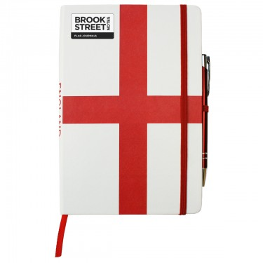 England Flag Notebook A5