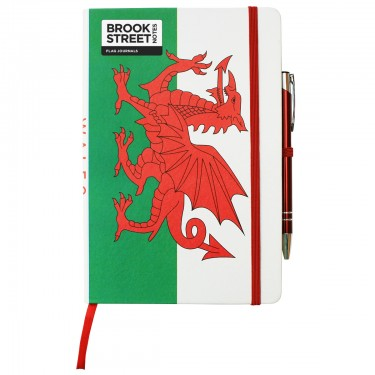 Wales Flag Notebook A5